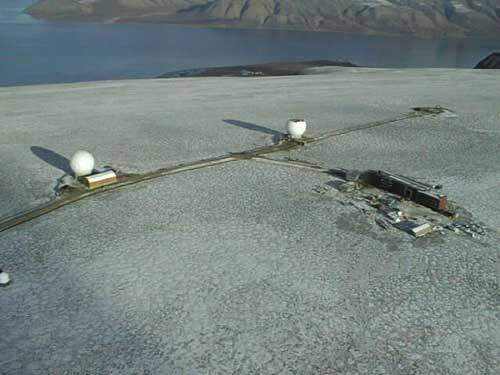 An aerial view of the Svalbard Ground Station.