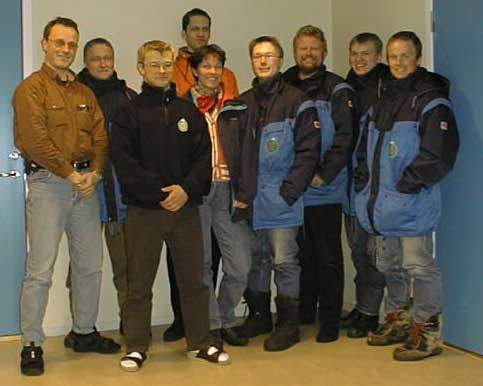 The Svalbard Ground Station crew.