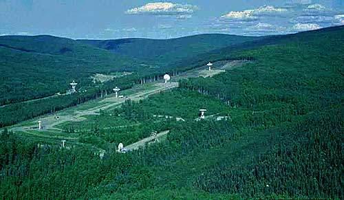Antennas to receive satellite signals.