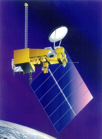 Artistic representation of the satellite.