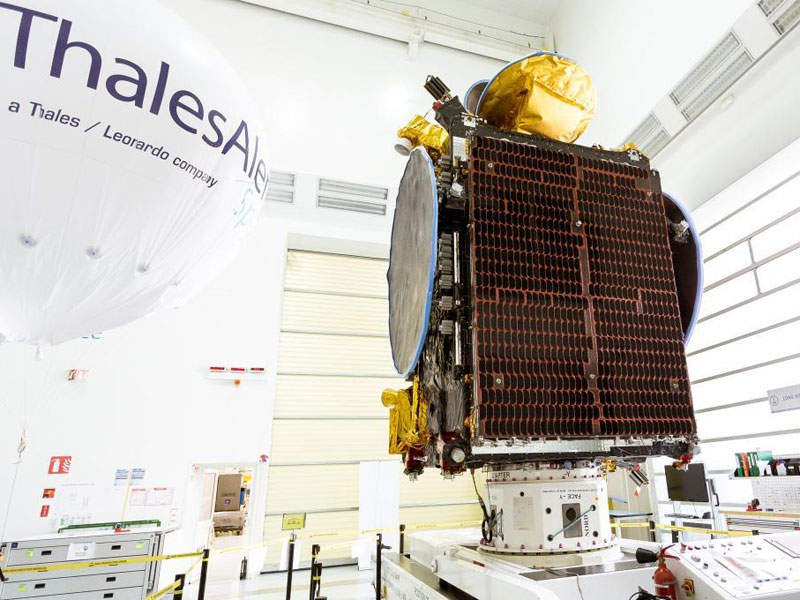 Koreasat-5A provides Direct-to-Home (DTH) broadcast, broadband, and backhaul services. Credit: Thales Alenia Space.