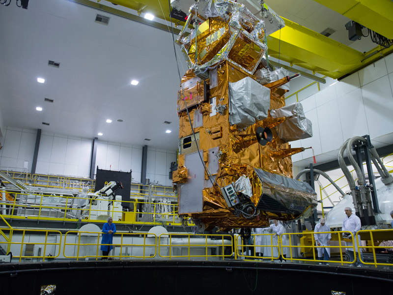 MetOp-C meteorological satellite will be launched in October 2018. Credit: ESA–G. Porter.