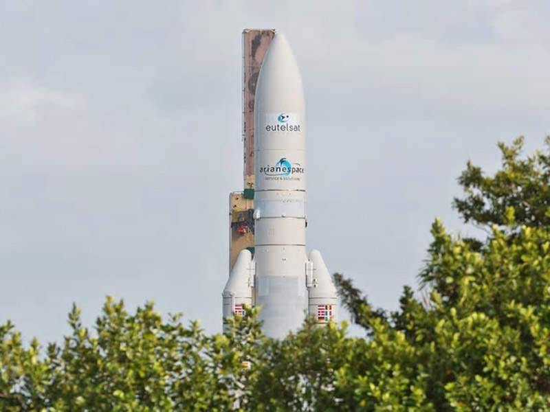 The satellite launch operation was carried out by Arianespace. Credit: Arianespace.