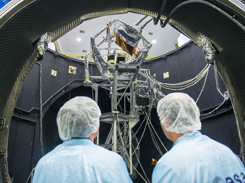 The sensor module for MetOp-C was manufactured at Airbus' Friedrichshafen facility in Germany. Credit: ESA–G. Porter.