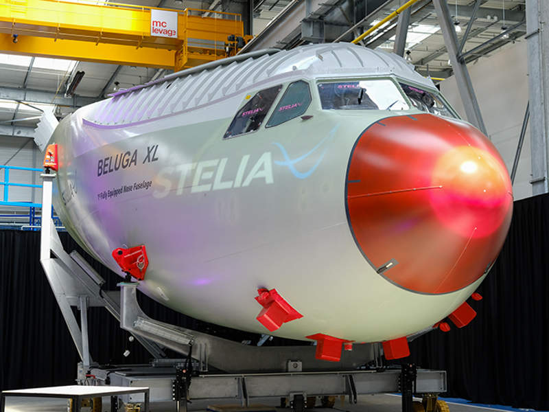 Beluga XL aircraft's nose section was developed by Stelia Aerospace. Credit: Stelia Aerospace.