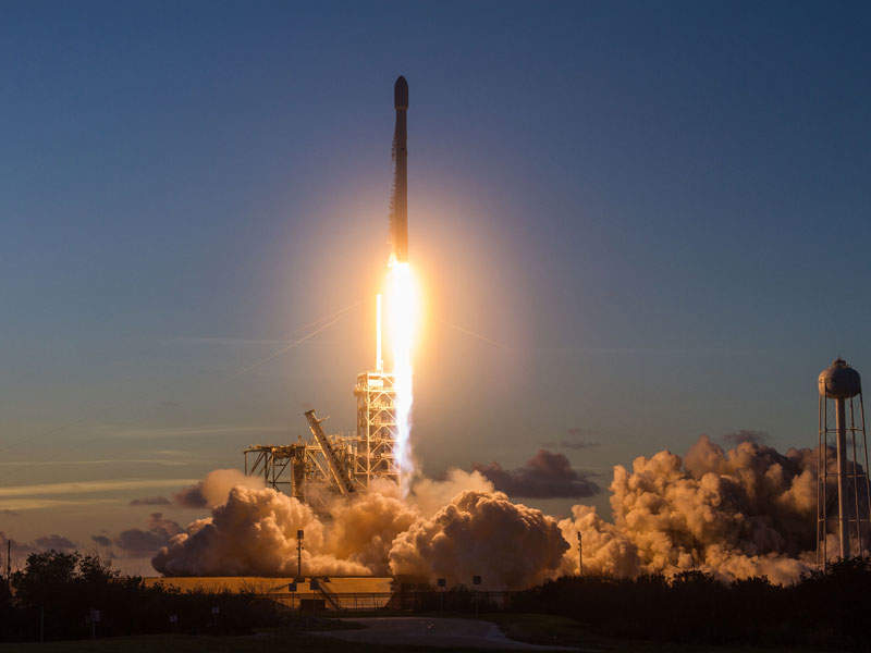 The satellite was launched aboard Falcon 9 version 1.2 rocket manufactured by SpaceX. Credit: SpaceX.