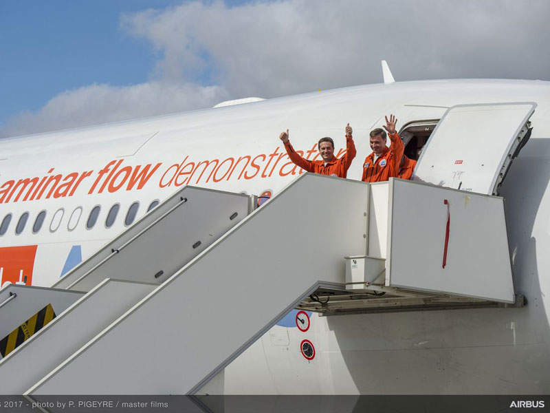 The A340-300 test-bed aircraft was developed in a period of 16 months by Airbus Flight Lab Team. Credit: Airbus.