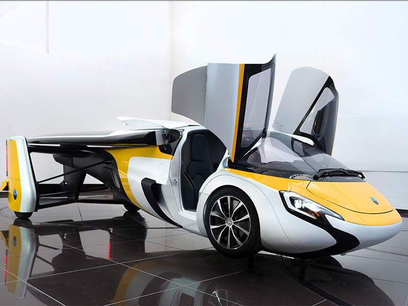 The AeroMobil 4.0 Flying Car was exhibited at the International Paris Air Show 2017. Image courtesy of AeroMobil.