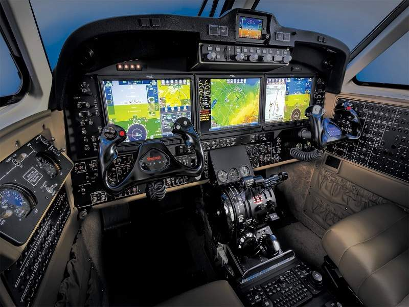 King Air 250 is equipped with Pro Line Fusion avionics suite. Credit: Textron Aviation.