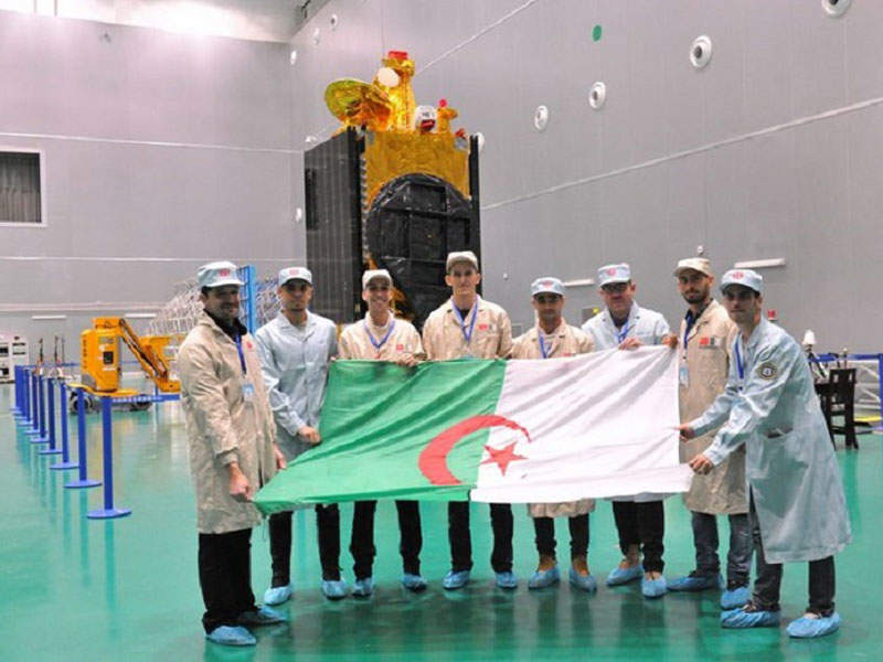 Alcomsat-1 was manufactured by China Academy of Space Technology (CAST). Credit: Algerian Space Agency (ASAL).