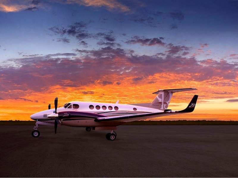 The King Air 250 has multi-mission capabilities and can be customised for surveillance, flight inspection, and aerial survey missions. Credit: Textron Aviation.
