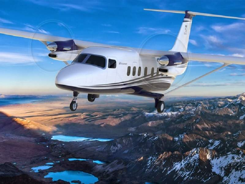 The twin-engine, high-wing, large-utility turboprop Cessna SkyCourier 408 is being developed by Textron Aviation. Image courtesy of Textron Aviation Inc.