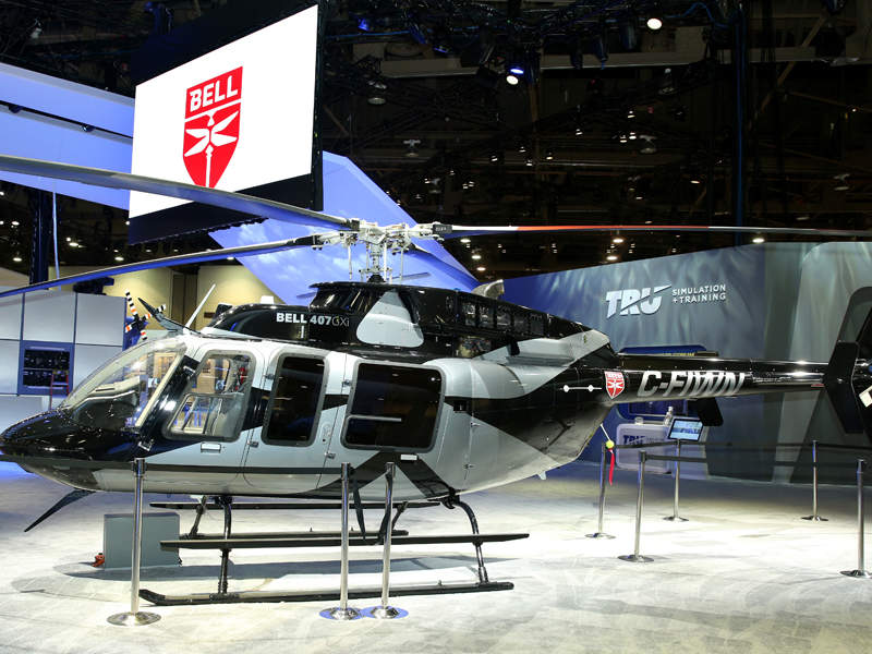 Bell 407GXi was unveiled at Heli-Expo 2018 trade show held in February 2018. Credit: Bell Helicopter Textron Inc.