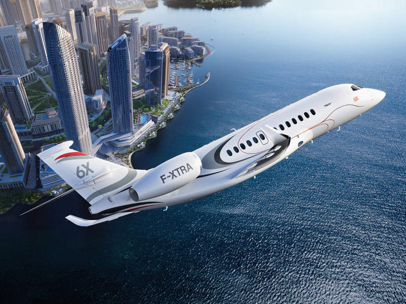 Dassault Aviation launched the Falcon 6X business jet in February 2018. Credit: Dassault Aviation.