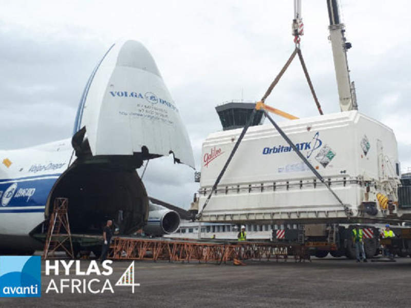 Hylas-4 satellite was shipped to the Arianespace launch facilities from Avanti satellite manufacturing facility in Dulles, Virginia. Image courtesy of Avanti Communications Group plc.