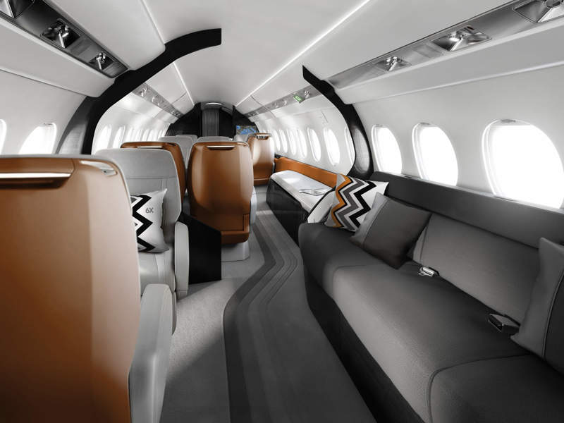 The business jet will feature a spacious cabin, which will be 12.3m-long and 2.58m-wide. Credit: Dassault Aviation.