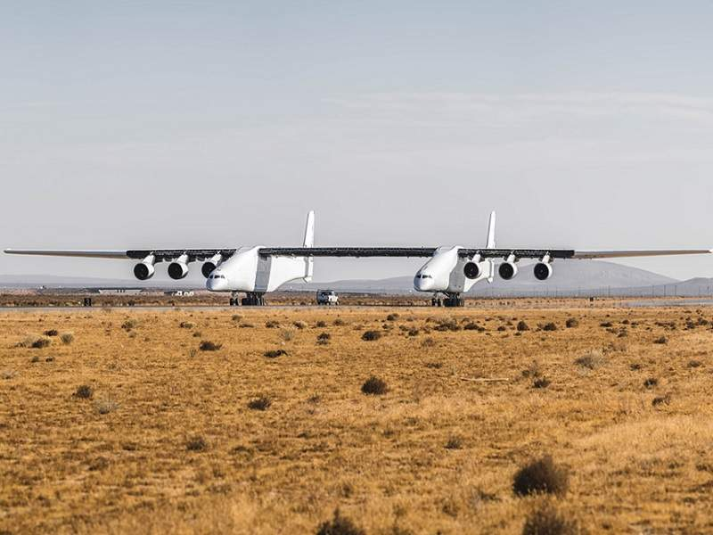 Stratolaunch Systems is developing the world's biggest aircraft by wingspan. Credit: Stratolaunch Systems Corp.