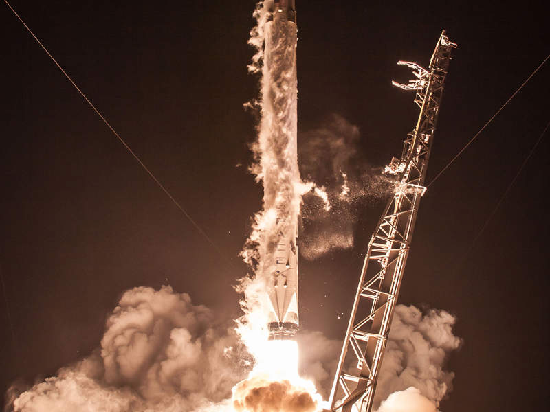 Hispasat 30W-6 telecommunication satellite was launched in March 2018. Credit: SpaceX.