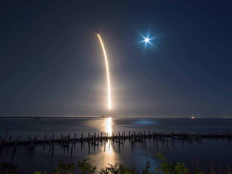 Falcon 9 launch vehicle was used for the launch of Hispasat 30W-6. Credit: SpaceX.