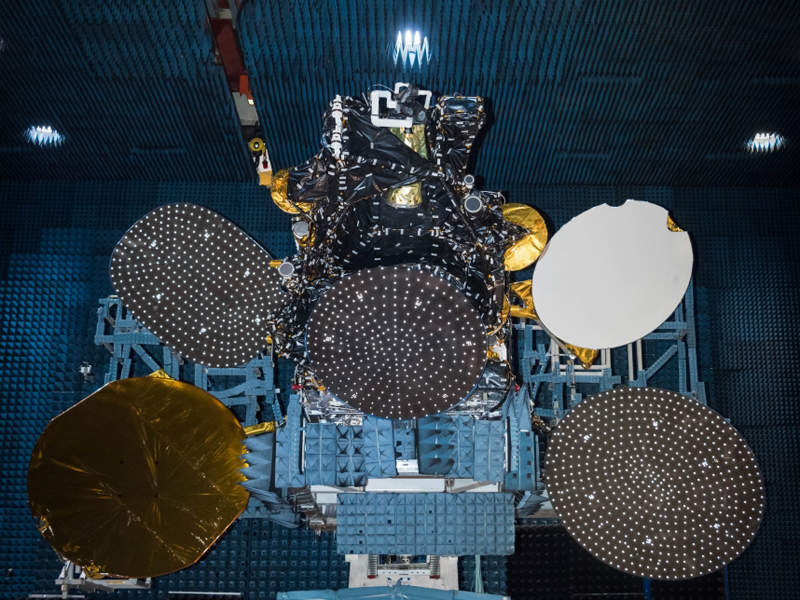 Built by Space Systems Loral, the satellite is owned by Hispasat. Credit: SpaceX.