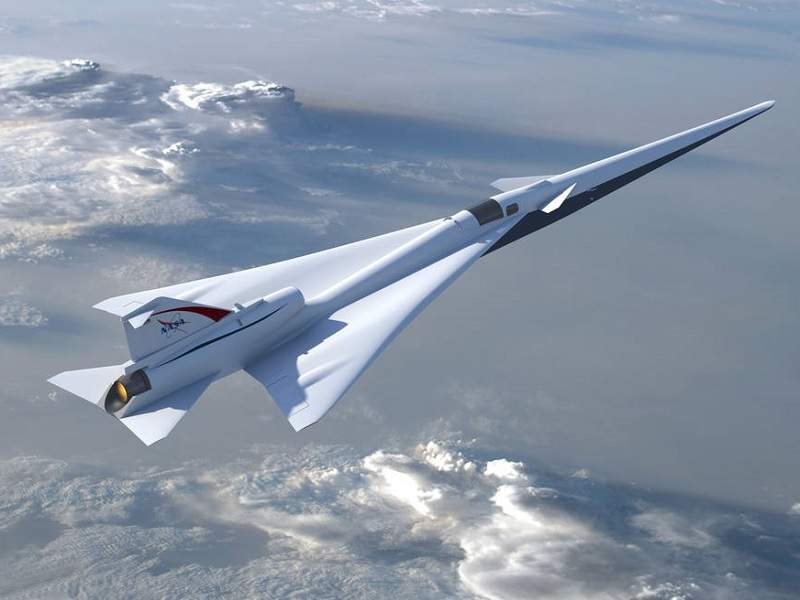The QueSST X-Plane is being developed by Nasa. Image courtesy of Nasa / Lockheed Martin.