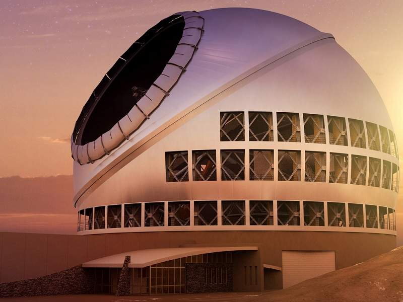 The Thirty Meter Telescope (TMT) will be positioned at Maunakea in Hawaii. Credit: TMT International Observatory.