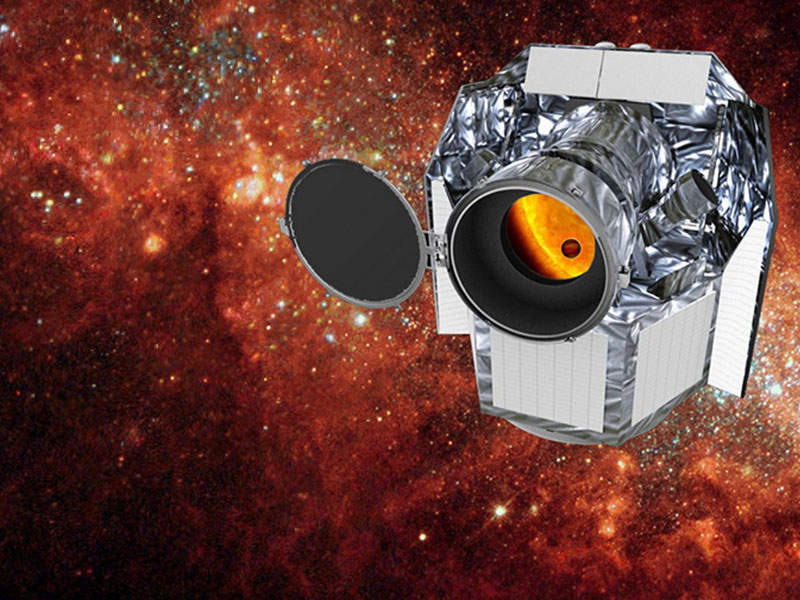 Artist's rendering of CHaracterising ExOPlanets Satellite (CHEOPS) telescope. Credit: Airbus.