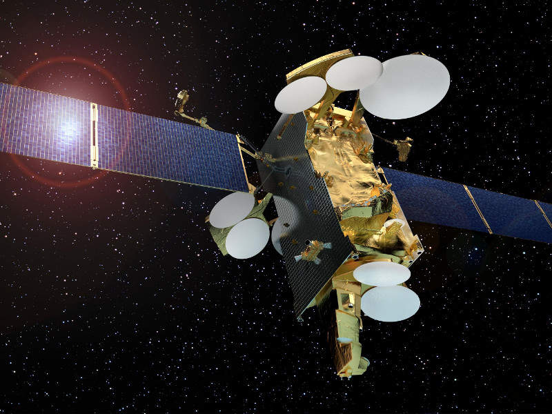 Artist's rendering of the SES-12 satellite. Image courtesy of Airbus.