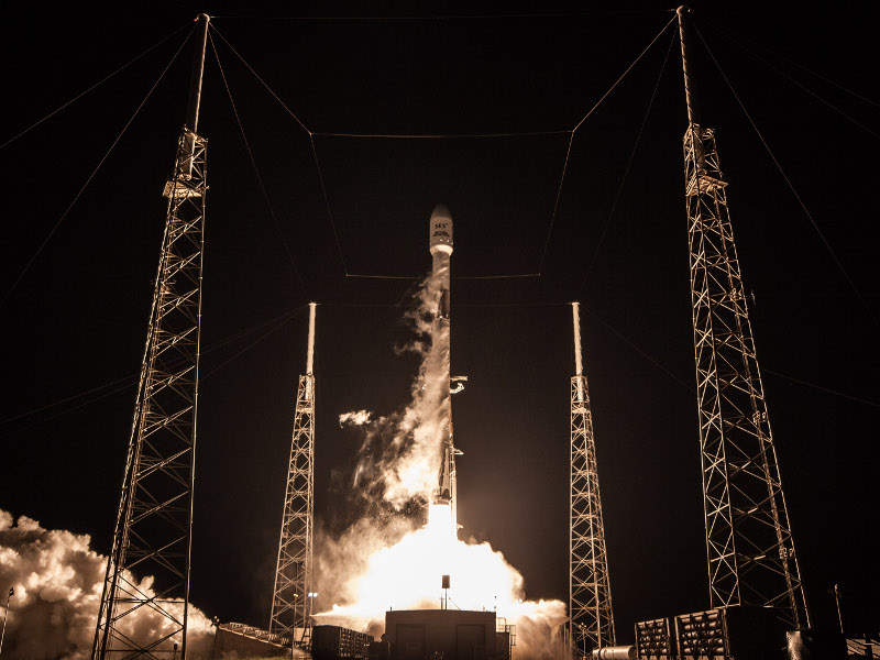 The satellite was launched aboard Falcon 9 rocket from Cape Canaveral Air Force Station in Florida. Image courtesy of SpaceX.