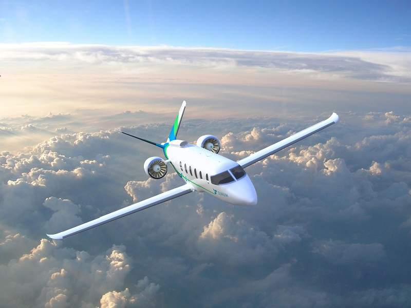 An all-electric, low-wing hybrid aircraft is being developed by Zunum Aero. Credit: Zunum Aero.