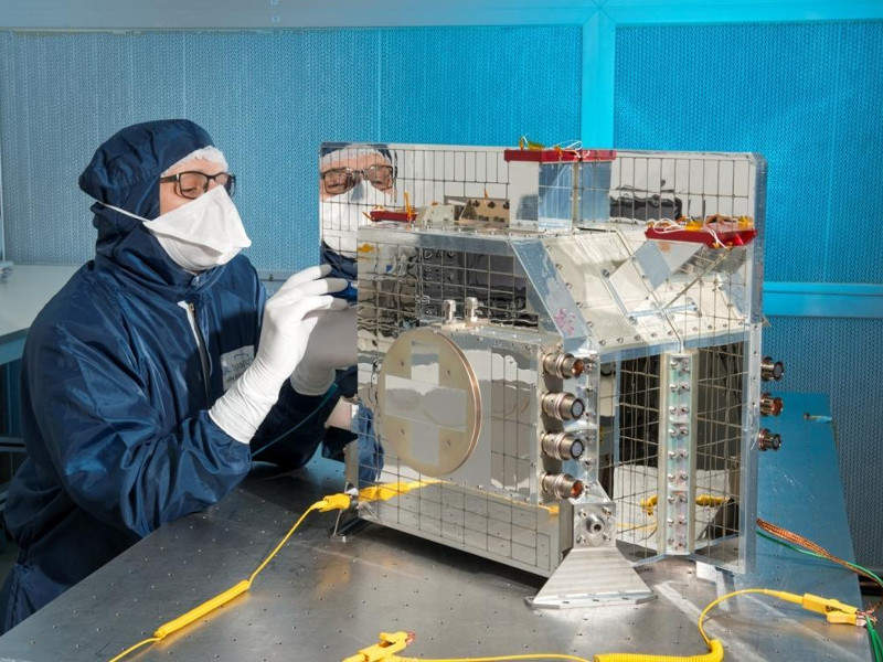 The build broadband radiometer (BBR) instrument for the satellite was manufactured by Thales Alenia Space (TAS). Credit: Thales Alenia Space.