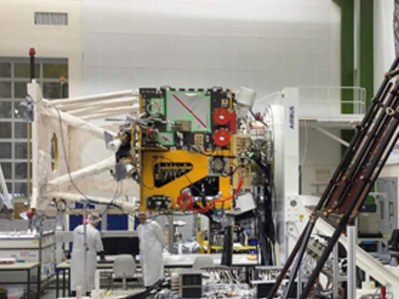 The EarthCARE satellite is scheduled for launch in August 2019. Image courtesy of Airbus DS GmbH / Mathias Pikelj.