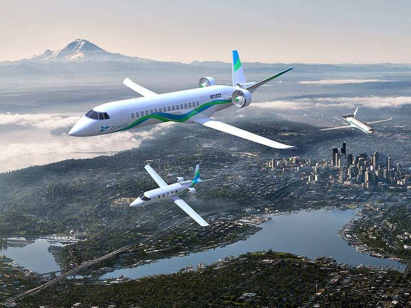 The aircraft will have a maximum cruise speed of 547km/h. Credit: Zunum Aero.