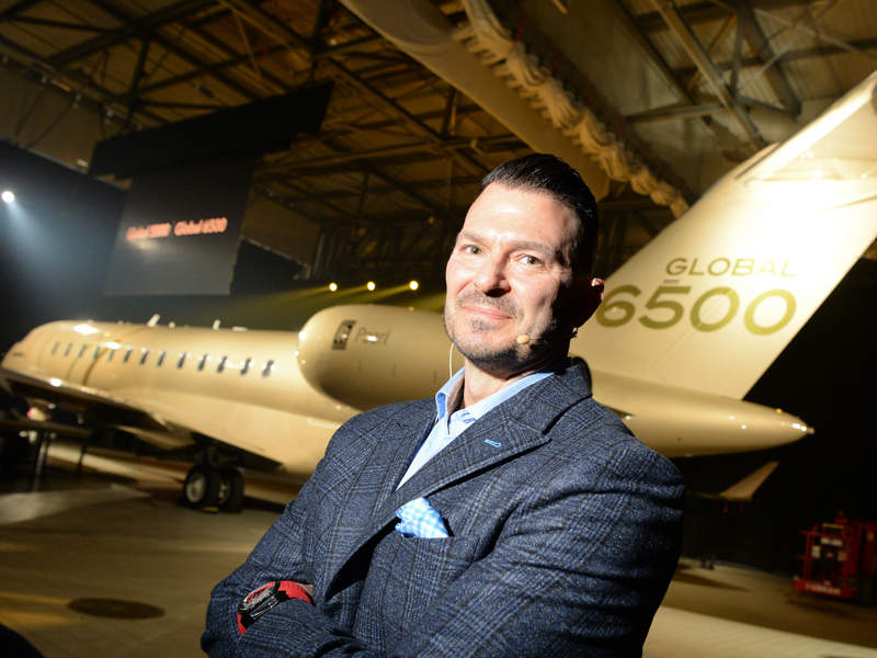The Global 6500 aircraft will have a maximum range of 6,600 nautical miles. Credit: Bombardier Inc.