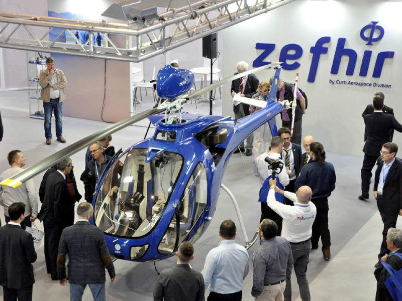 Zefhir helicopter was unveiled at the AERO Friedrichshafen event in May 2018. Credit: Curti Costruzioni Meccaniche SpA.