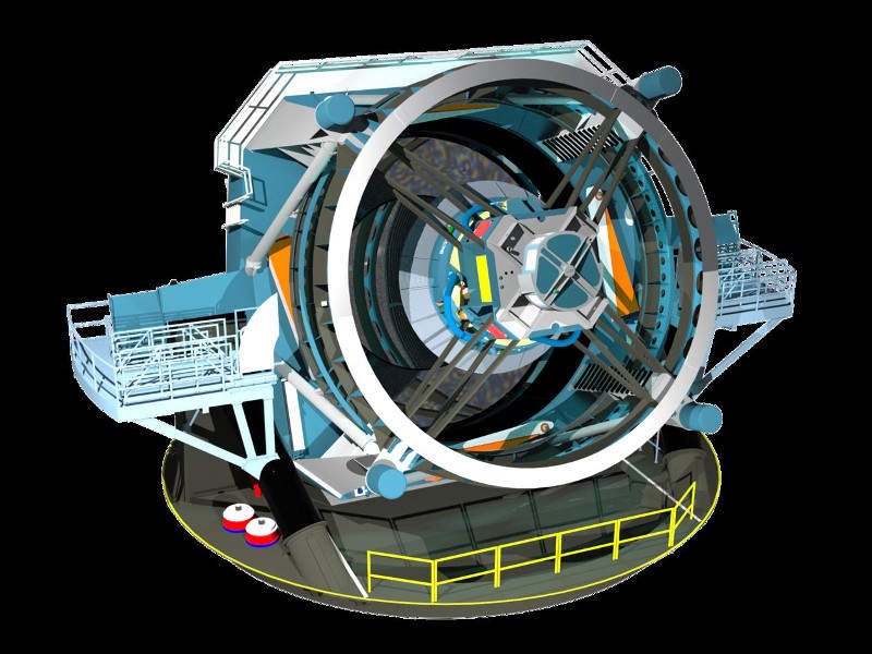 The Large Synoptic Survey Telescope (LSST) will be located at Cerro Pachon, Chile. Credit: LSST Project Office.