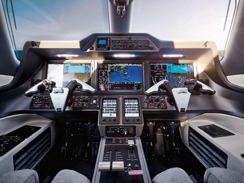 The cockpit features Prodigy Touch avionics suite. Credit: Embraer SA.