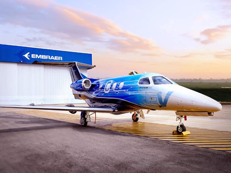 The Phenom 100EV aircraft has a maximum range of 2,182km. Credit: Embraer SA.