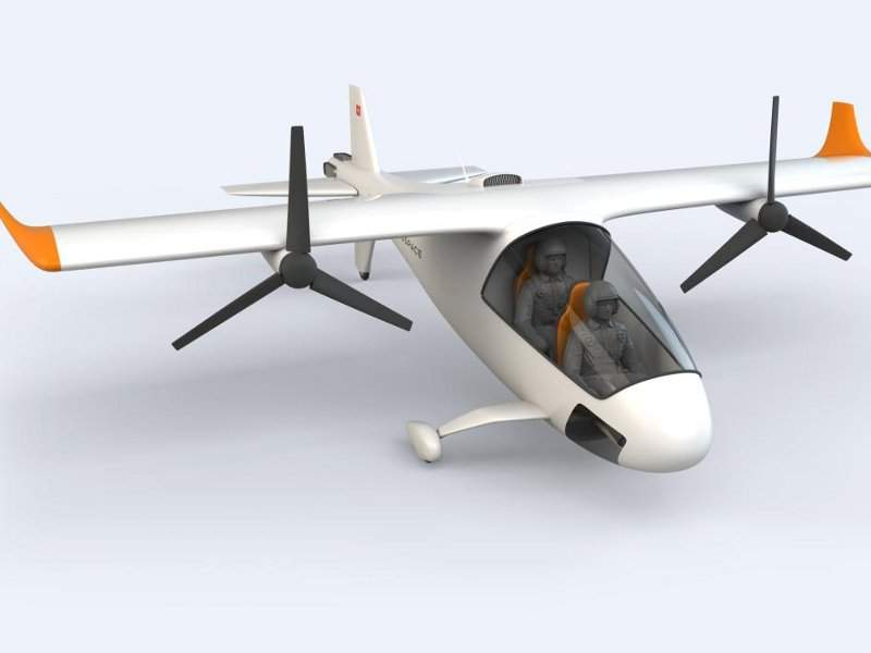 aEro 2 is a hybrid-electric vertical take-off and landing (VTOL) aircraft. Credit: Dufour Aerospace.