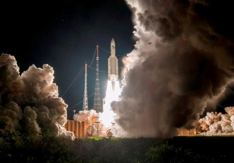 Arianespace launches two satellites for Intelsat and partners