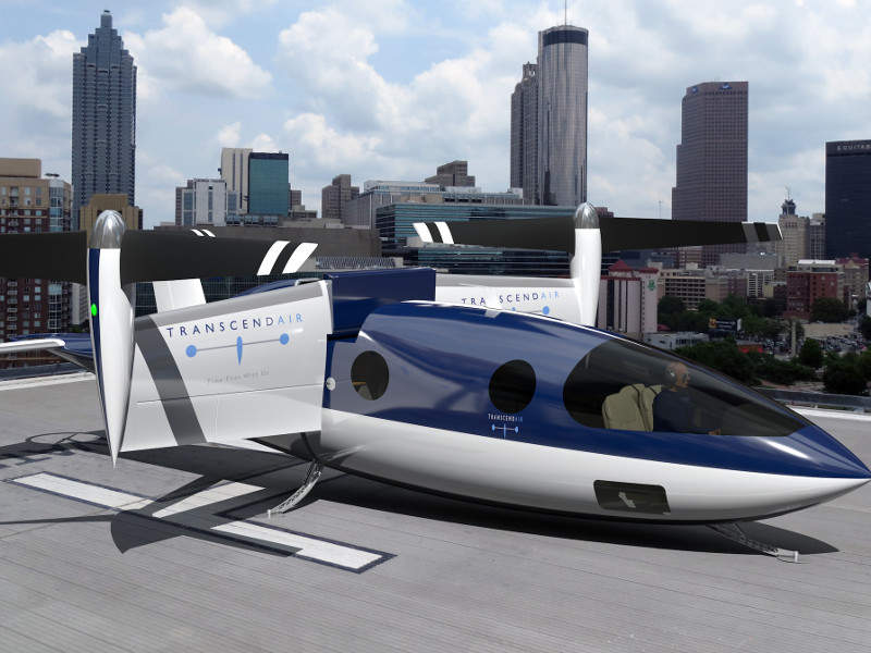 Vy 400 features a tilt-wing, fly-by-wire VTOL design. Credit: Transcend Air Corporation.