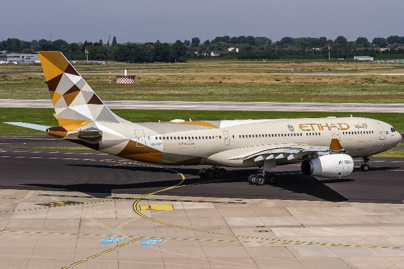 An Etihad Airways aircraft on ground