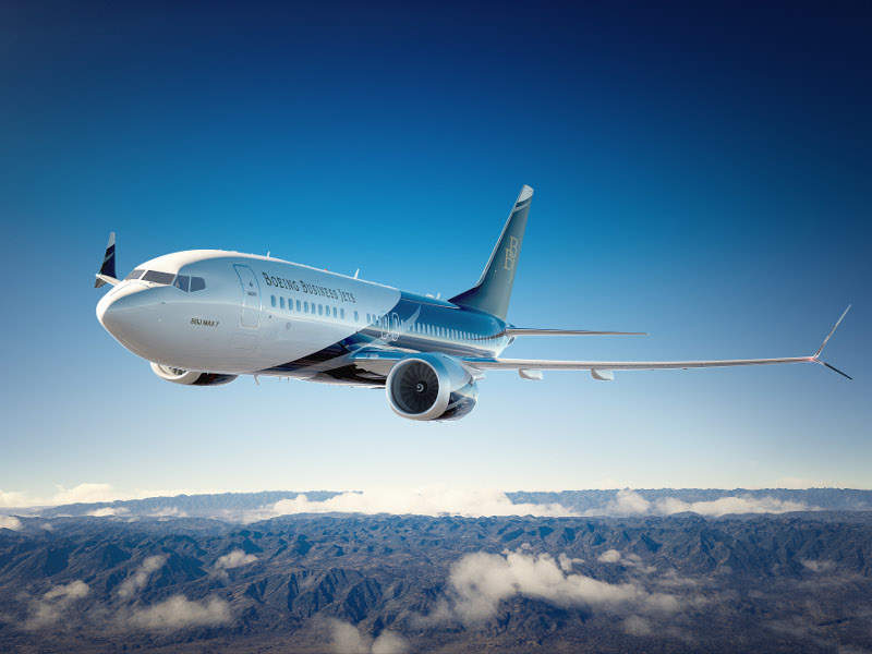 Boeing Business Jet (BBJ) MAX 7 is the new member of the BBJ MAX aircraft family. Credit: Boeing.