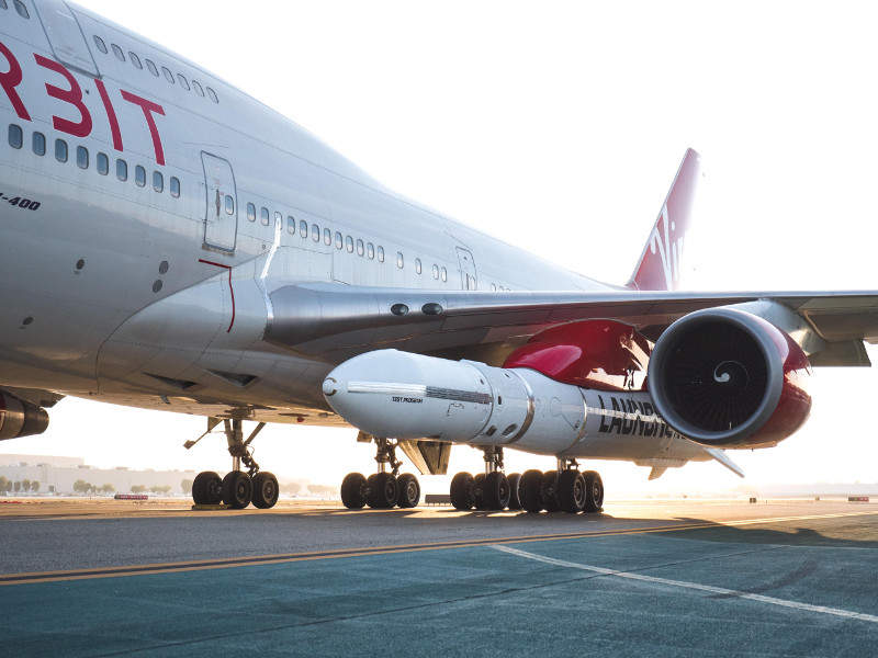 LauncherOne is designed to carry payloads weighing between 300kg and 500kg. Credit: Virgin Orbit.