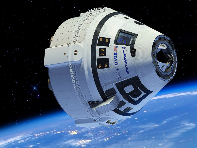 The CST-100 Starliner's first orbital flight test will be an unmanned test that will take place in March 2019. Credit: Boeing.