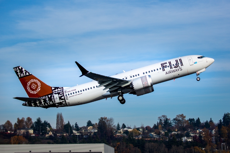 boeing delivers new 737 max aircraft to fiji airways