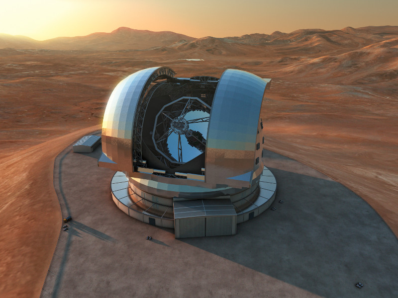 Extremely Large Telescope will be the biggest telescope development so far. Credit: ESO.