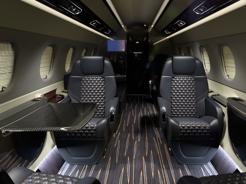 The business jet can accommodate up to 12 passengers. Image courtesy of Embraer S.A.