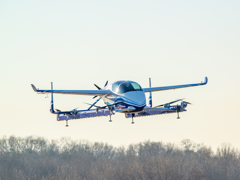 The eVTOL aircraft will be available in two and four seat variants. Credit: Boeing.