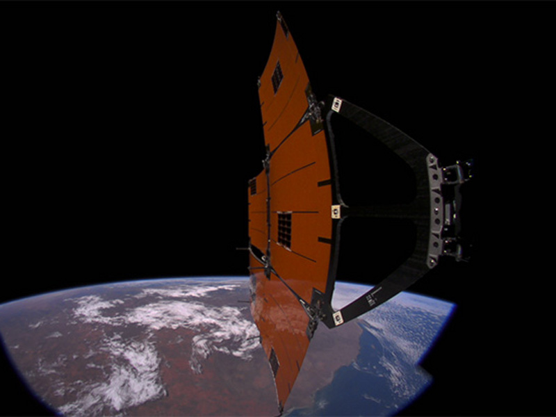 MicroDragon is a micro satellite developed by Keio University to perform remote sensing activities. Credit: Japan Aerospace Exploration Agency (JAXA).